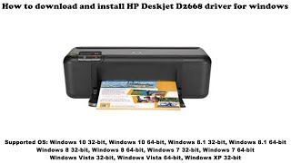 how to download and install HP DeskJet Ink Advantage 3835 driver Windows 10, 8 1, 8, 7, Vista, XP