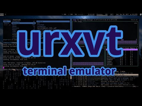 URXVT is the Best Terminal  (And some configuration notes)