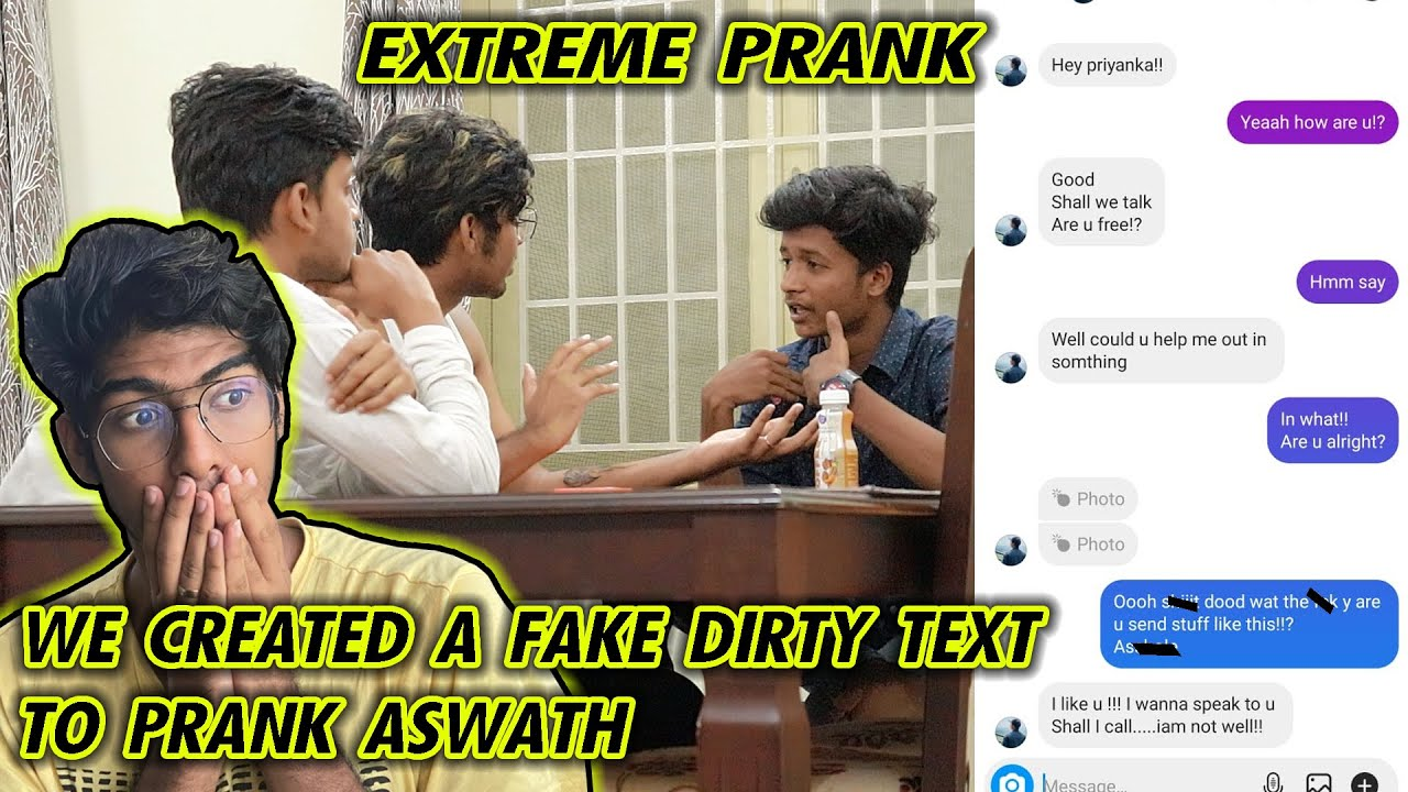 """WE CREATED A FAKE """"DIRTY""""  TEXT TO PRANK OUR friend   #Justbanana"""