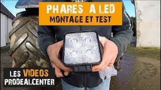 ✔️ JE TESTE LES PHARES DE TRAVAIL A LED et je vous dis tout !!! Montage & tests
