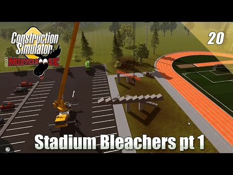 Construction Simulator 2015 - Installing Stadium Bleachers pt 1