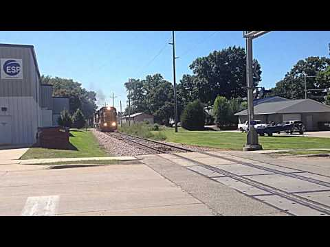 Rail-fanning Canadian National in Cedar Rapids, IA  9/6/14