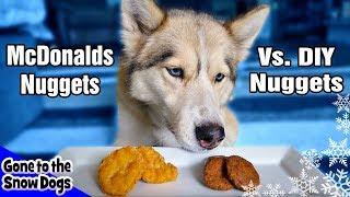 DIY Dog Chicken Nuggets Vs. McDonald Chicken Nuggets