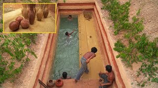 Building The Most Tunnel Swimming Pools Underground And Marble Bowling