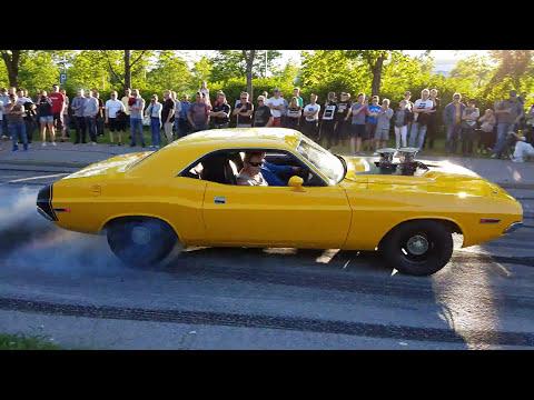 Vantaa Car Meet,(4K) INSANE BURNOUTS!
