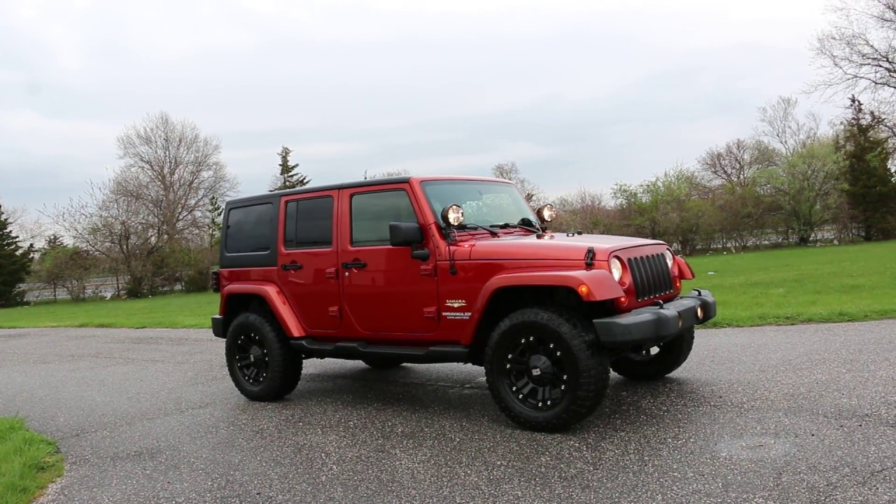 Attractive 2009 Jeep Wrangler Sahara Unlimited For Sale~XD Rims~2 Tops~Steps~Custom  Grill~KC Fogs