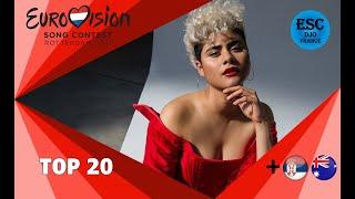 Eurovision 2021   My Top 20   So Far + 🇷🇸 🇦🇺