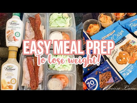 MEAL PREP TO LOSE WEIGHT & HEALTHY GROCERY HAUL | PANCAKE BAKE & TURKEY BACON CLUB WRAPS