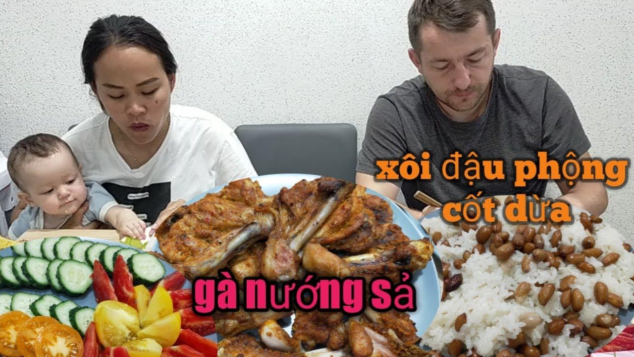 Mua được 3kg sả làm liền món Gà nướng sả 😁 xôi đậu phộng nước cốt dừa thơm ngon hết nồi
