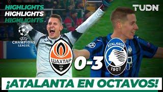 Highlights | Shaktar Donetsk 0 - 3 Atalanta | Champions League - J 6 - Grupo C | TUDN