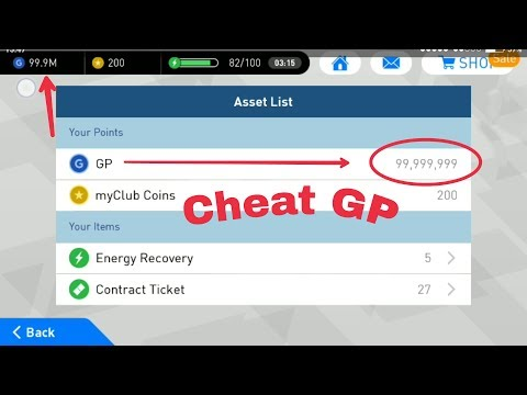 New Cheat 99,999,999 GP PES 2018 Mobile