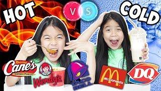 HOT VS COLD FOOD CHALLENGE [PART 2] | Tran Twins