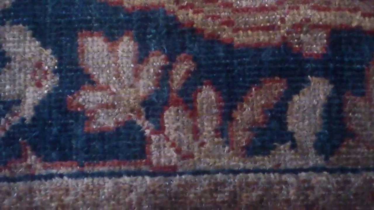 limpieza restauración alfombras: alfombra persa: mesa de succión 7
