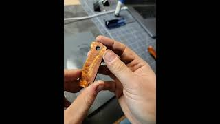 Final stage :: hąnd crafting a new damascus pocket knife - recorded live