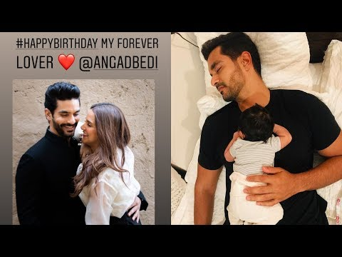 Neha Dhupia and daughter Mehr wish Angad Bedi on his birthday in the cutest way