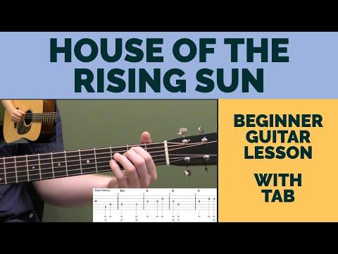 House Of The Rising Sun Beginner Guitar Lesson