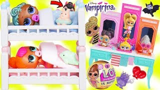 Custom LOL Surprise Dolls Play at Barbie Sink Store with Unicorn Li...