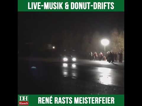 Meisterfeier René Rast: Live-Musik und Donut-Drifts