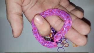 Плетем браслет ФРАНЦУЗСКАЯ КОСА на пальцах или рогатке из резинок. Урок: Плетение из резинок.