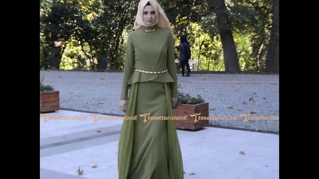 c1aad8f656ba4 Tesetturisland.com | Tesettürlü Abiye Elbise - Yağ Yeşili Abiye Elbise