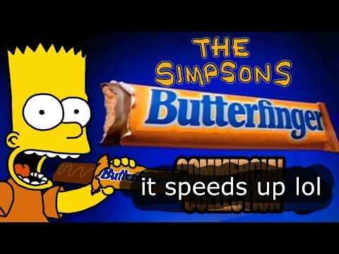 Simpsons Butterfinger collection but it speeds up every crunch sound