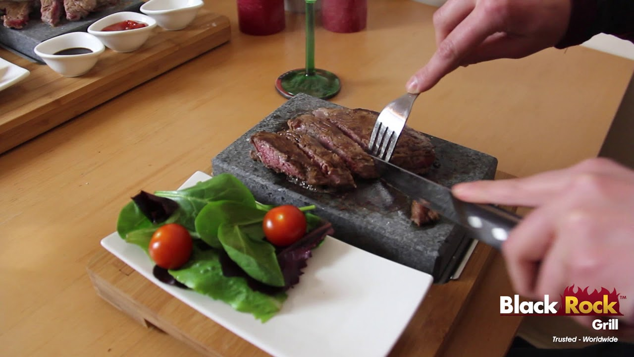 Lava Stone Steak Set By Black Rock Grill Stone Grill