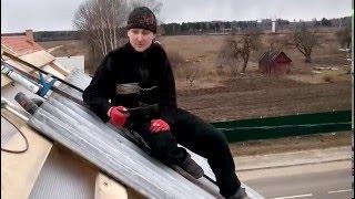 видео Как покрыть крышу ондулином самостоятельно