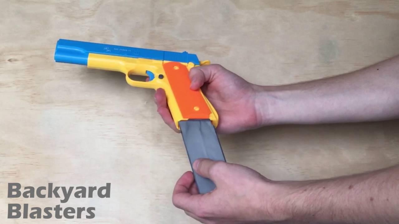 Toy Gun Realistic 1 1 Scale Colt 1911 Rubber Bullet