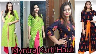 Myntra Kurti Haul 2018 | Affordable Kurtis | Pink
