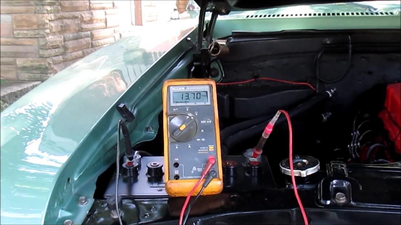 Battery Voltage Testing With Mechanical Voltage Regulator