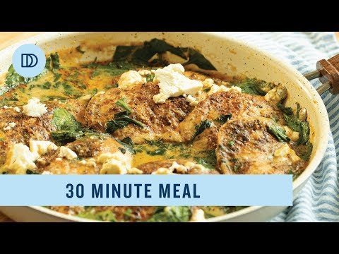 Chicken In A Creamy Spinach & Feta Sauce