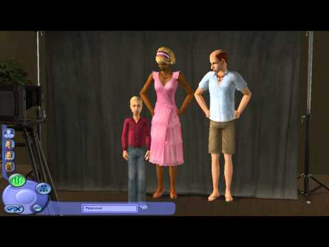 Давайте играть в The Sims 2!  1 серия. (1 часть).  Создание семьи.
