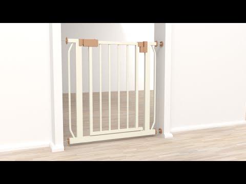 Seguridad de bebes en escaleras puerta de acero con bisagra by grupo botix - Seguridad escaleras ninos ...