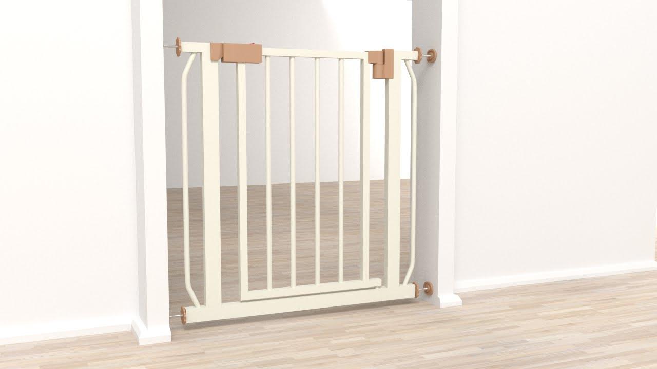 Tectake barrera de seguridad para puertas y escaleras - Puertas seguridad ninos ...