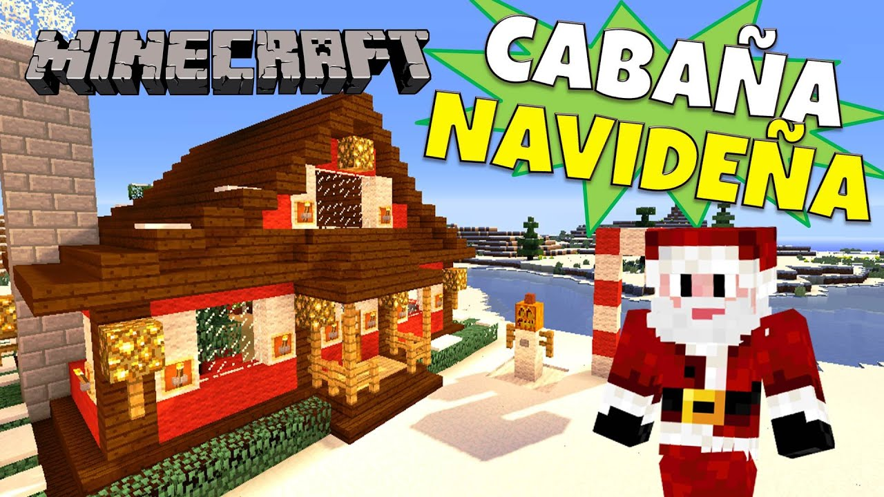 Minecraft como hacer una caba a navide a super tutorial for Casa moderna rey zerch