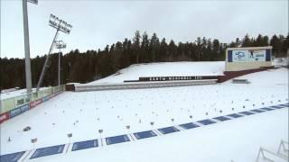 Падение мачты в биатлонном центре Ханты-Мансийска