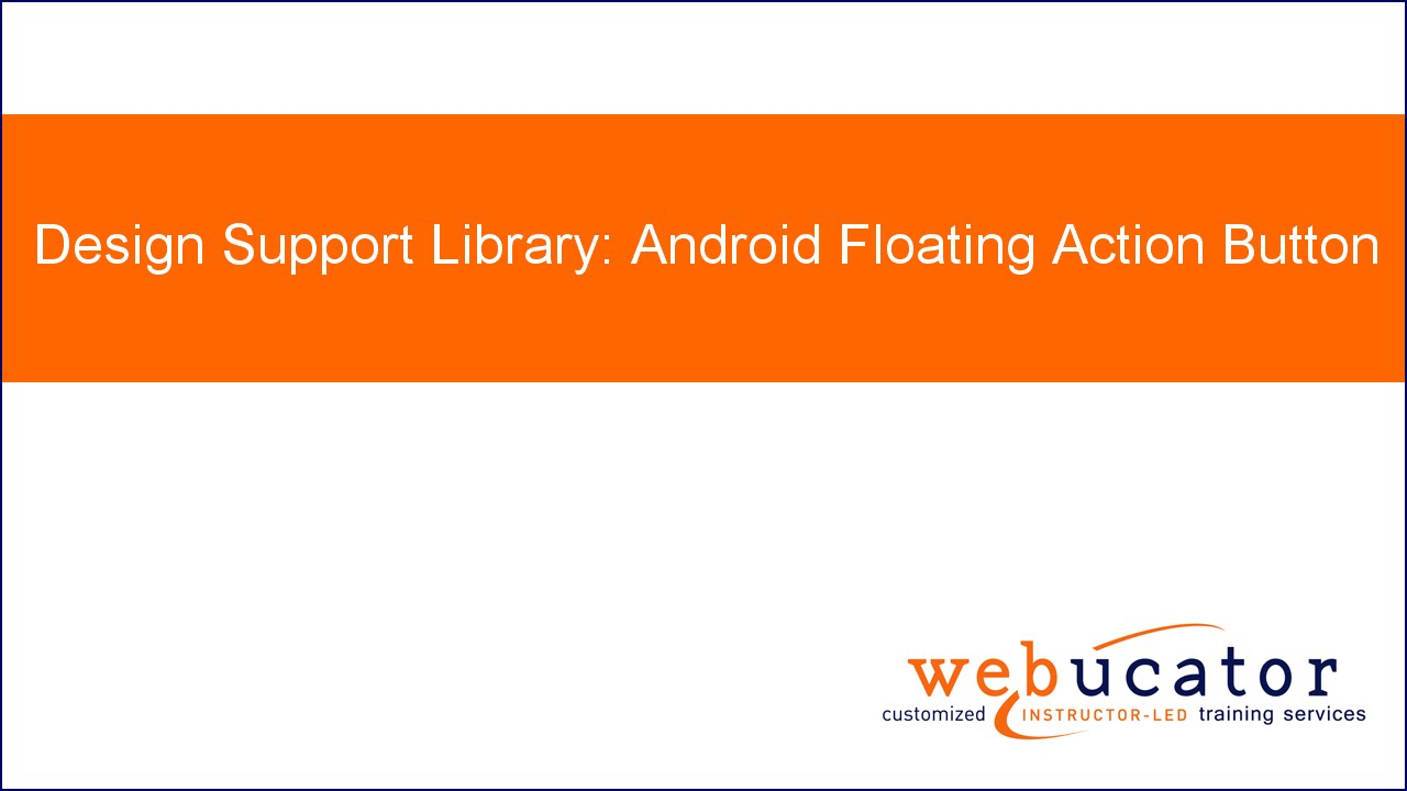 Design Support Library (II): Floating Action Button
