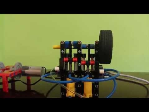 LEGO pneumatic engine Boxer (2 cylinders) + compressor