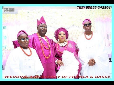 WEDDING ANNIVERSARY OF FRANCA & BASHY part 1