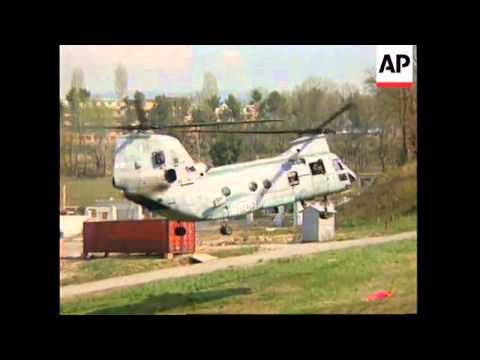 ALBANIA: TIRANA: HELICOPTERS HELP EVACUATE STRANDED US CITIZENS