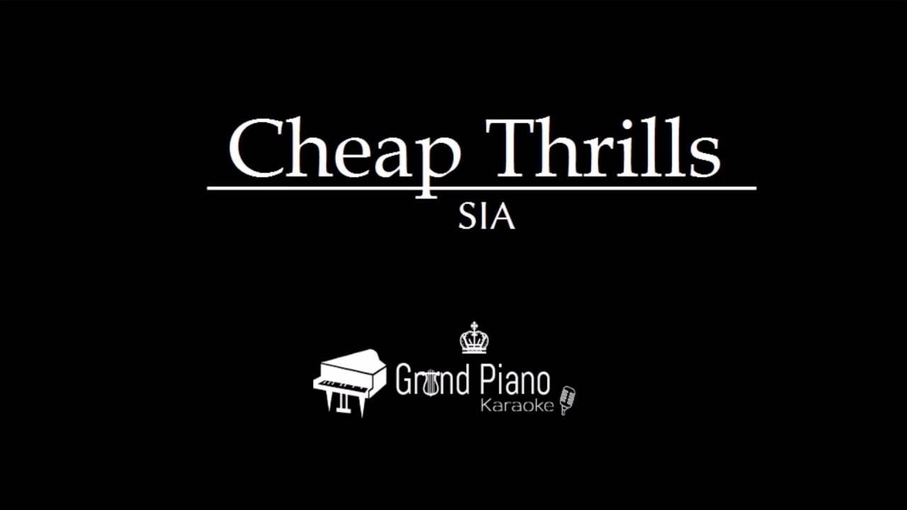 Cheap Thrills - Sia | Piano Karaoke - YouTube