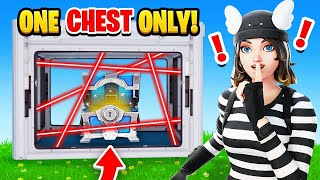 The *ONE* CHEST Challenge in Fortnite! (HARD)