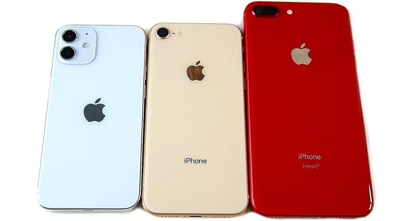 Iphone 12 Mini Size Vs Iphone 8 Youtube