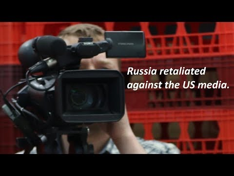 Russia retaliated against the US media.