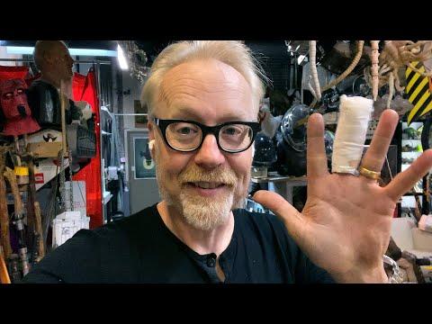 Adam Savage Explains His Scary Hand Injury!