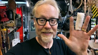 Adam Savage Explains His Scary Hand Injury!