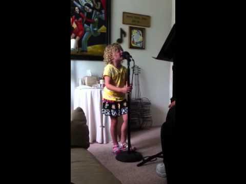 Trease Baker Singer Song Writer Age 4