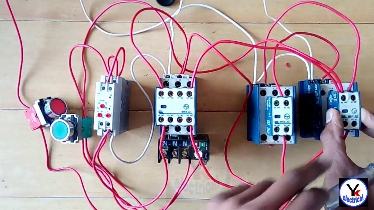 Star Delta Starter Control Wiring Auto Yk Simple Motor Diagram Electrical