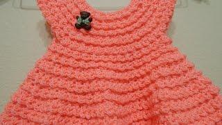 Vestido Crochet Durazno 0-3 meses y cualquier talla parte 2 de 2