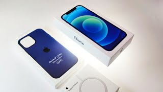 Apple iPhone 12 Blue - Unboxing & First Look At MagSafe Charging Demo [ASMR]